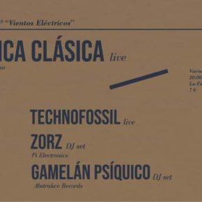 Presentación LP Mecánica Clásica (+ Technofossil + Zorz + Gamelán Psíquico)